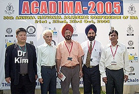 Dr Kim at National Academic Conference of India Medical Association