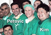 Dr Kim with Professor Dr Sava Perovic